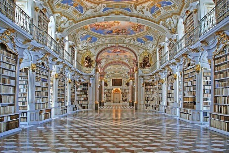 3. Admont Abbey Library, Admont, Austria - 31 Incredible Libraries and Bookstores Around the World