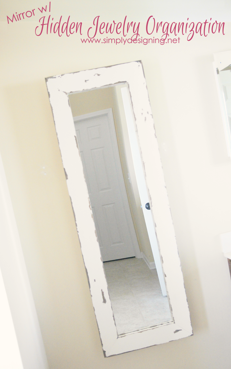 Marvelous This DIY Framed Mirror With Hidden Jewelry Storage Opens To Reveal A  Surprise; Hidden Jewelry