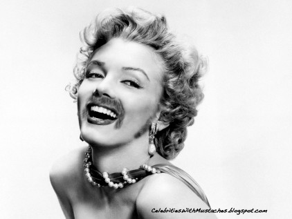 Celebrities With Mustaches- Marilyn monroe
