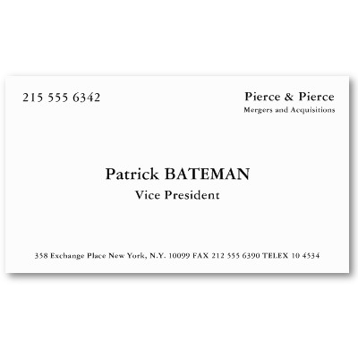 American psycho and perfume business cards reheart Choice Image