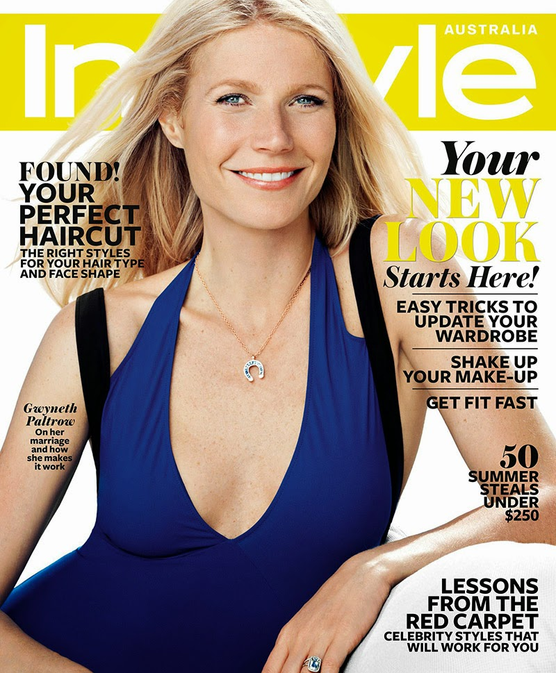 Magazine Cover : Gwyneth Paltrow Magazine Photoshoot Pics on InStyle Magazine Australia January 2014 Issue