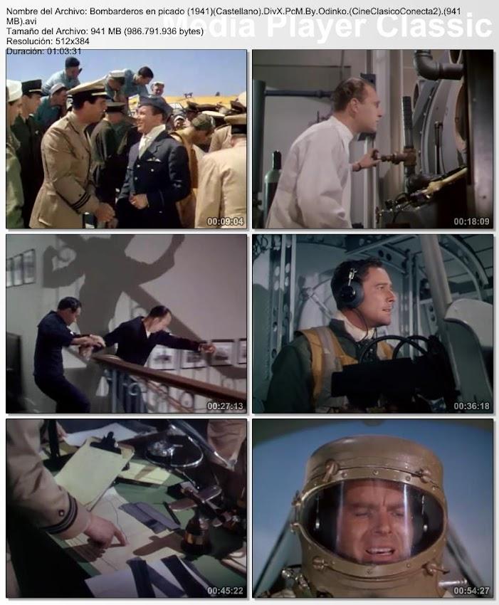Bombarderos en Picado | 1941 | Dive Bomber | Secuencias de la película
