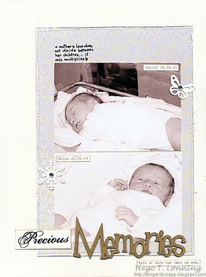 Hege Lonning memories scrapbook page