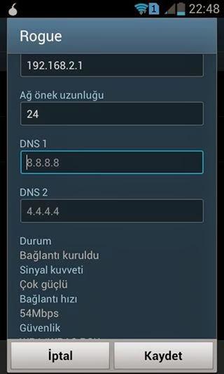 Samsung Galaxy S4 DNS Ayarları Değiştirme