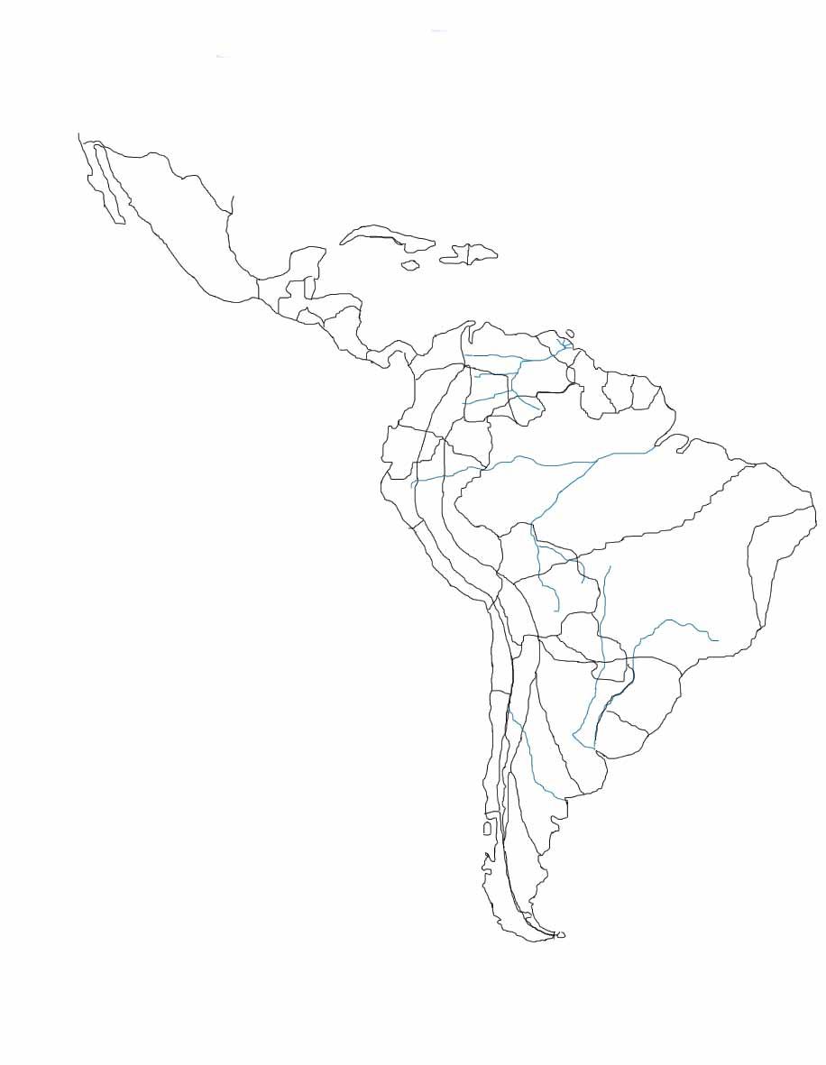 Mapa De America Latina Politico