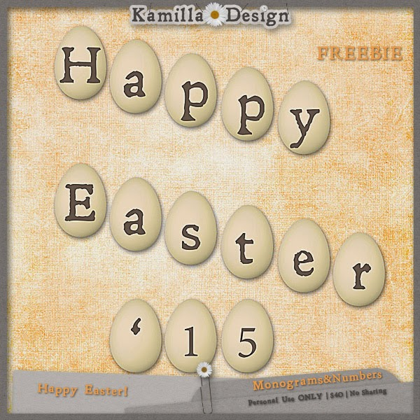 Easter freebie from Kamilla Design