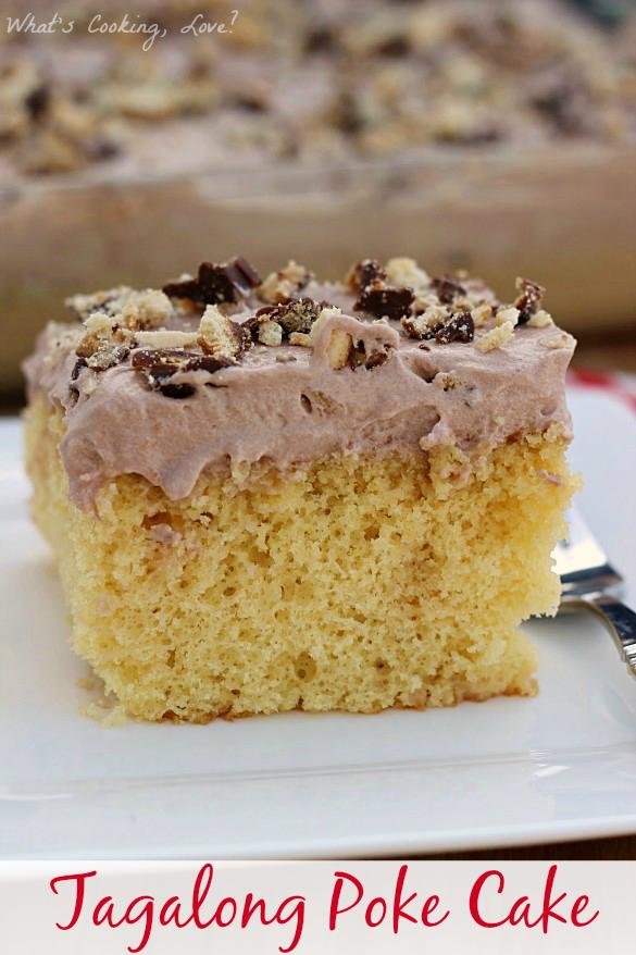 Tagalong Poke Cake