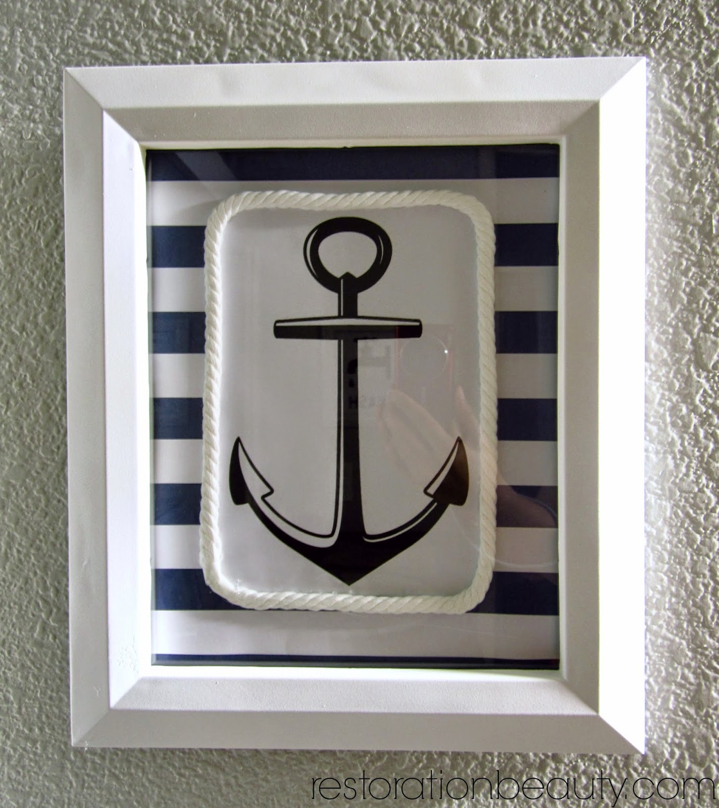 restoration beauty diy nautical wall art
