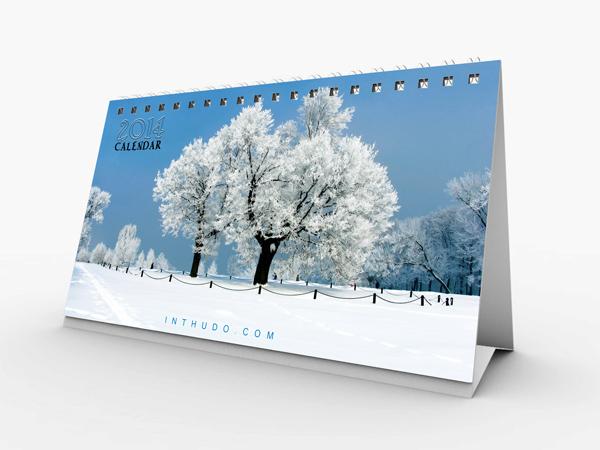 Mẫu lịch để bàn thiên nhiên 2014