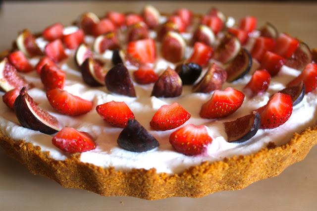 Goodness Gracious: Fig and Strawberry Ricotta Tart