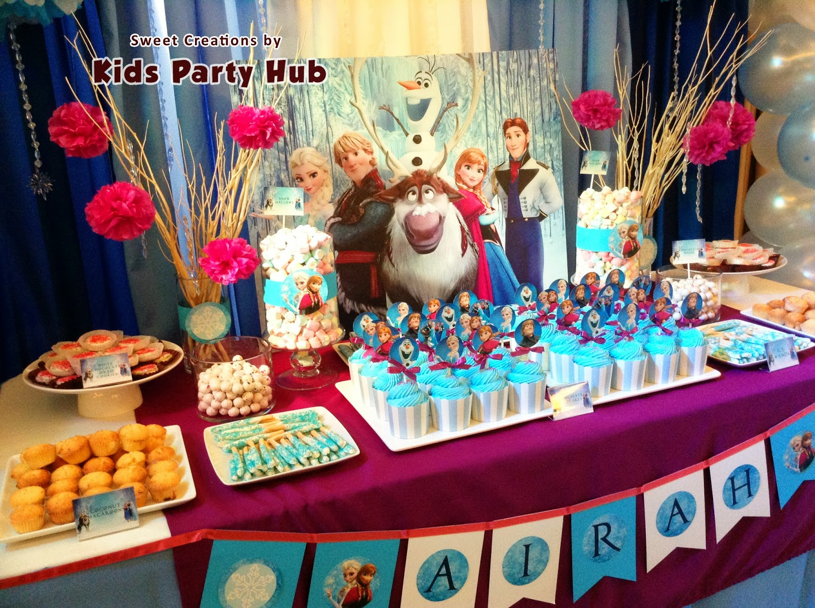 kids party hub disney frozen themed party   airah s 7th