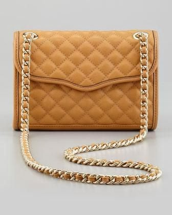 Rebecca Minkoff Quilted Affair Mini Shoulder Bag, Camel