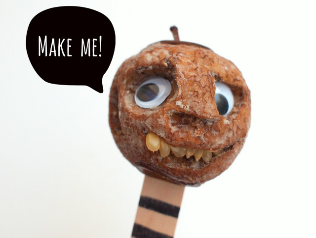 Halloween STEAM Activity for kids- Make shrunken apple heads!