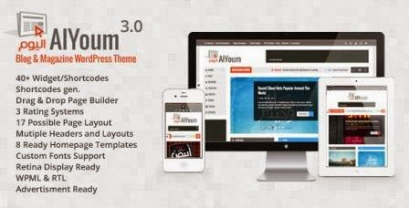 AlYoum v3.0.1 Retina Magazine & Blog WordPress Theme