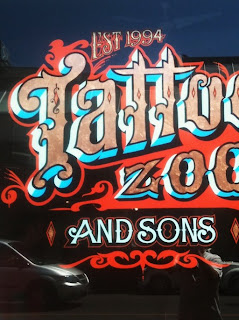 Tattoo Zoo Studio Sign Victoria British Columbia North America Dobell signs traditional signage dobell designs