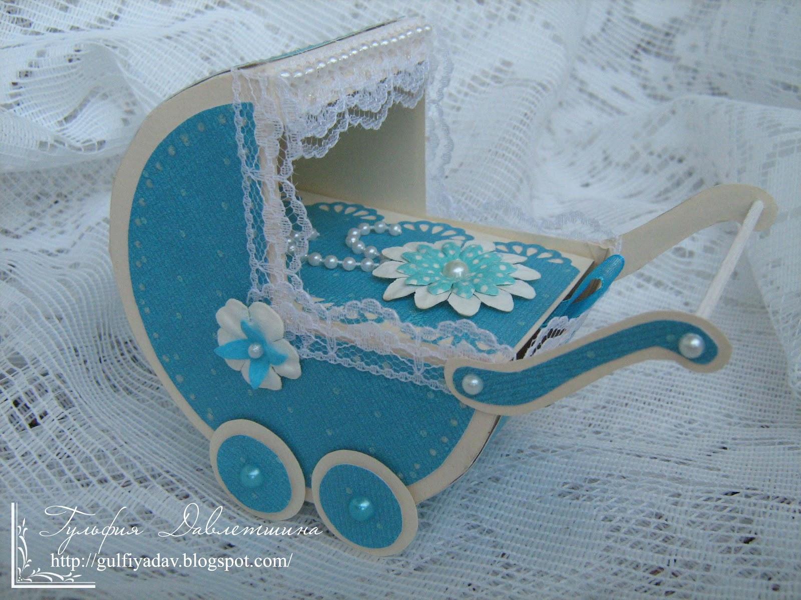 Работы из бумаги: коляска для денег ФОТО #1 Декор своими 41