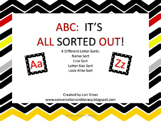 Letter sorts for learning the ABCs