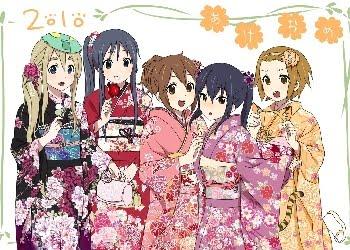 Anime Music Akiyama_mio_hirasawa_yui_japanese_clothes_k_on_kimono_kotobuki_tsumugi_nakano_azusa_tainaka_ritsu_Wallpaper_ool3e