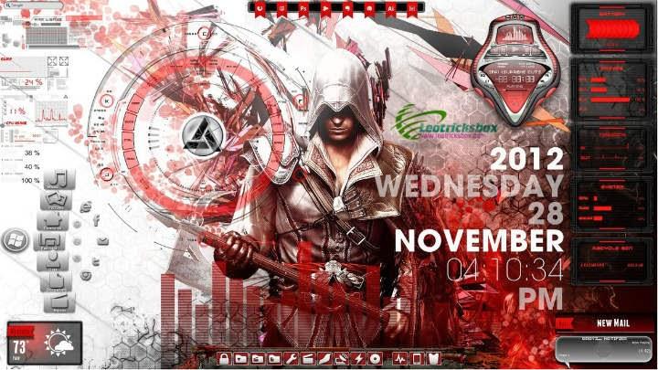 Theme : Assassins Creed Desktop for Rainmeter