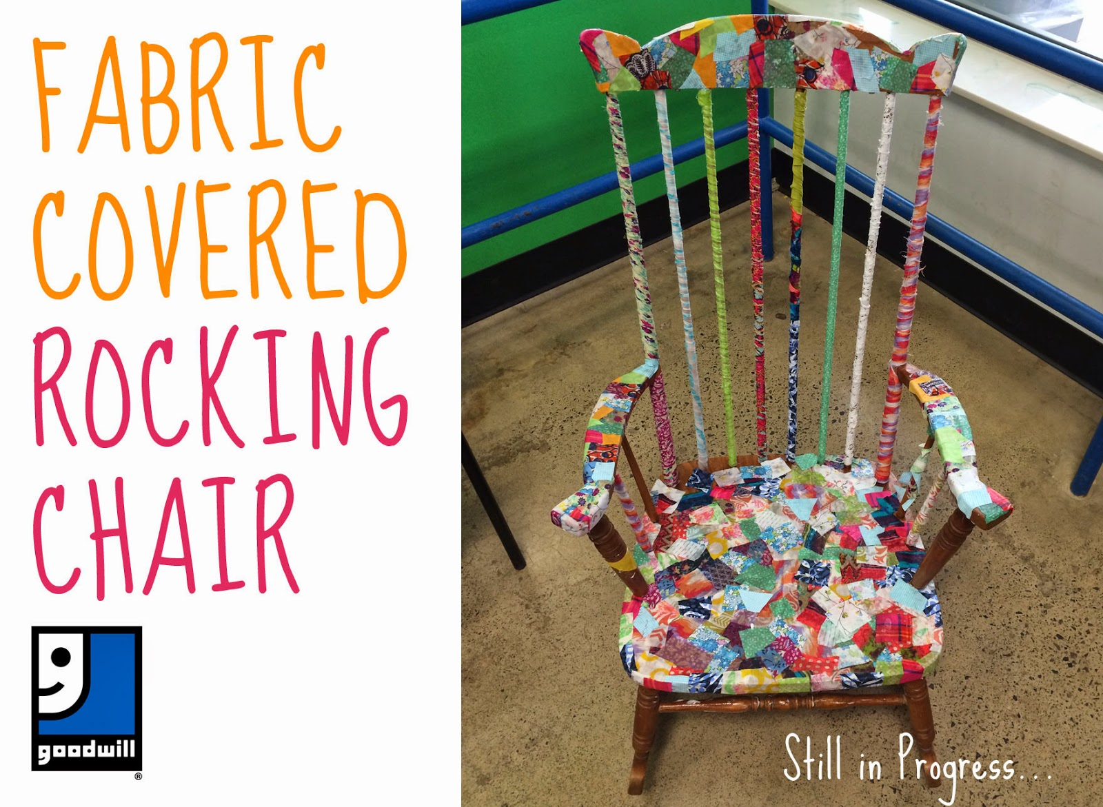 Something to be found the traveling fabric covered rocking chair
