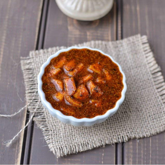 Instant Mango Pickle with Mustard & Jaggery