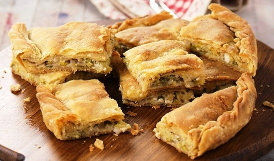 Courgette pie, The Cretan Diet, Mediterranean Diet,