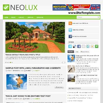 NeoLux blog template. template blogger with magazine style template. template blogger with image slider template. template blogger with 3 column footer