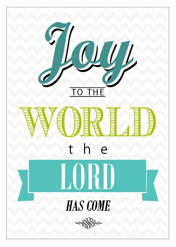 joy to the world printable