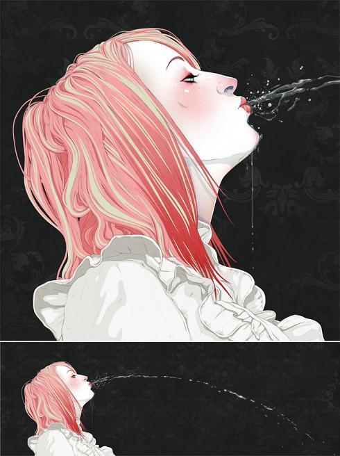 jason levesque ilustrações mulheres surreal fetiche