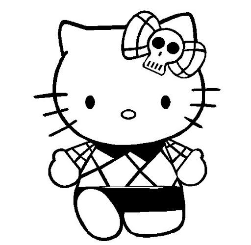 Riscos para pintar Hello Kitty