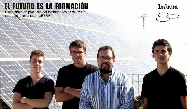 Estudiantes alemanes de practicas en Inderen energias renovables