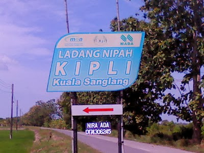 Lokasi Ladang Nipah Kipli Kuala Sanglang