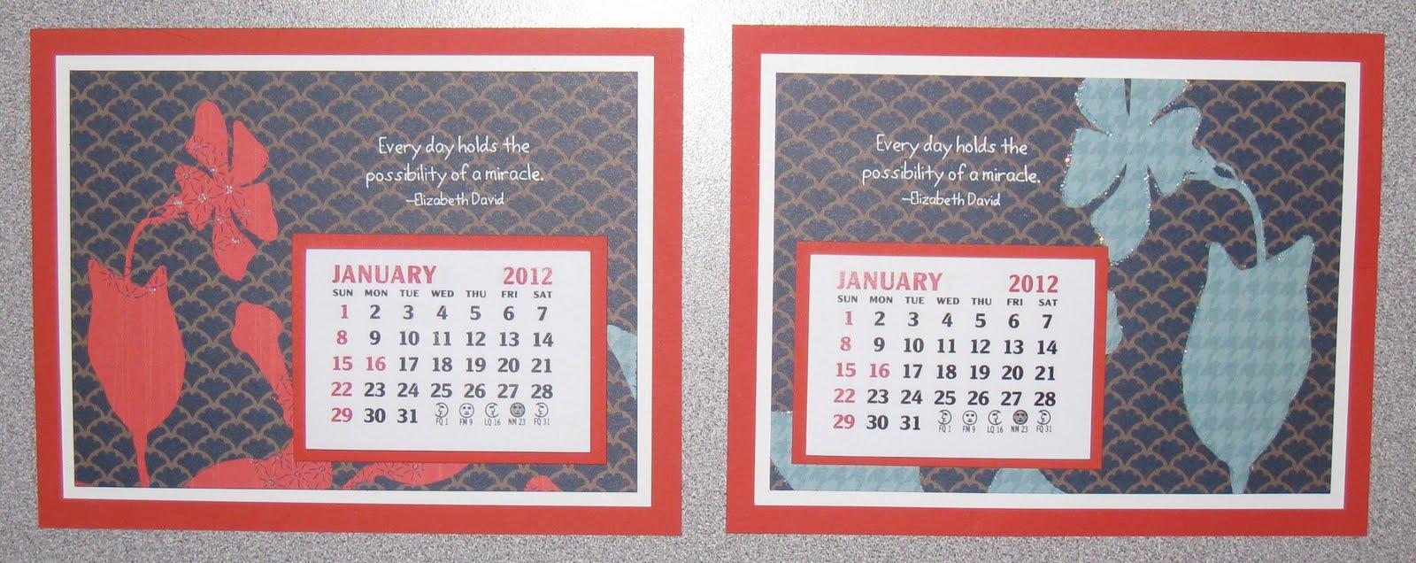 Calendar Craft Projects : Cathy s craft room calendar ideas