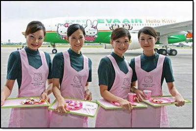 Hello Kitty airplane stewardesses