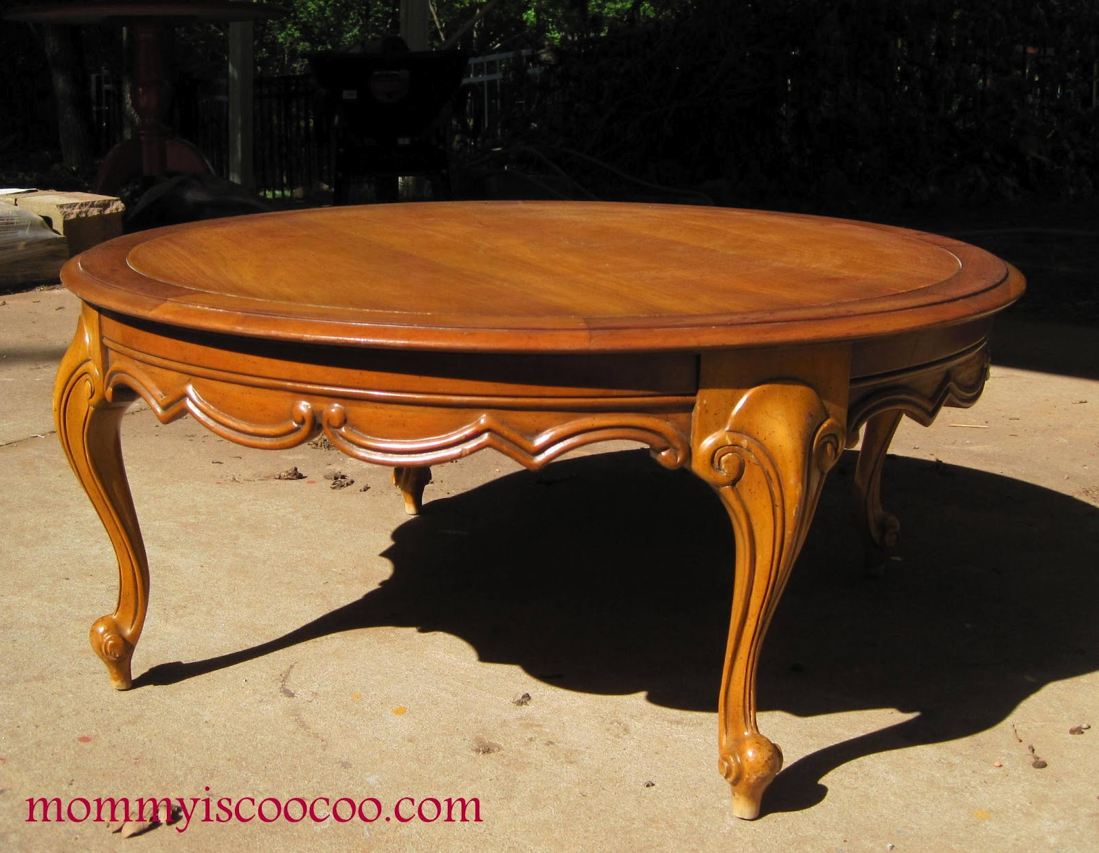 round victorian coffee table - mommy is coo coo