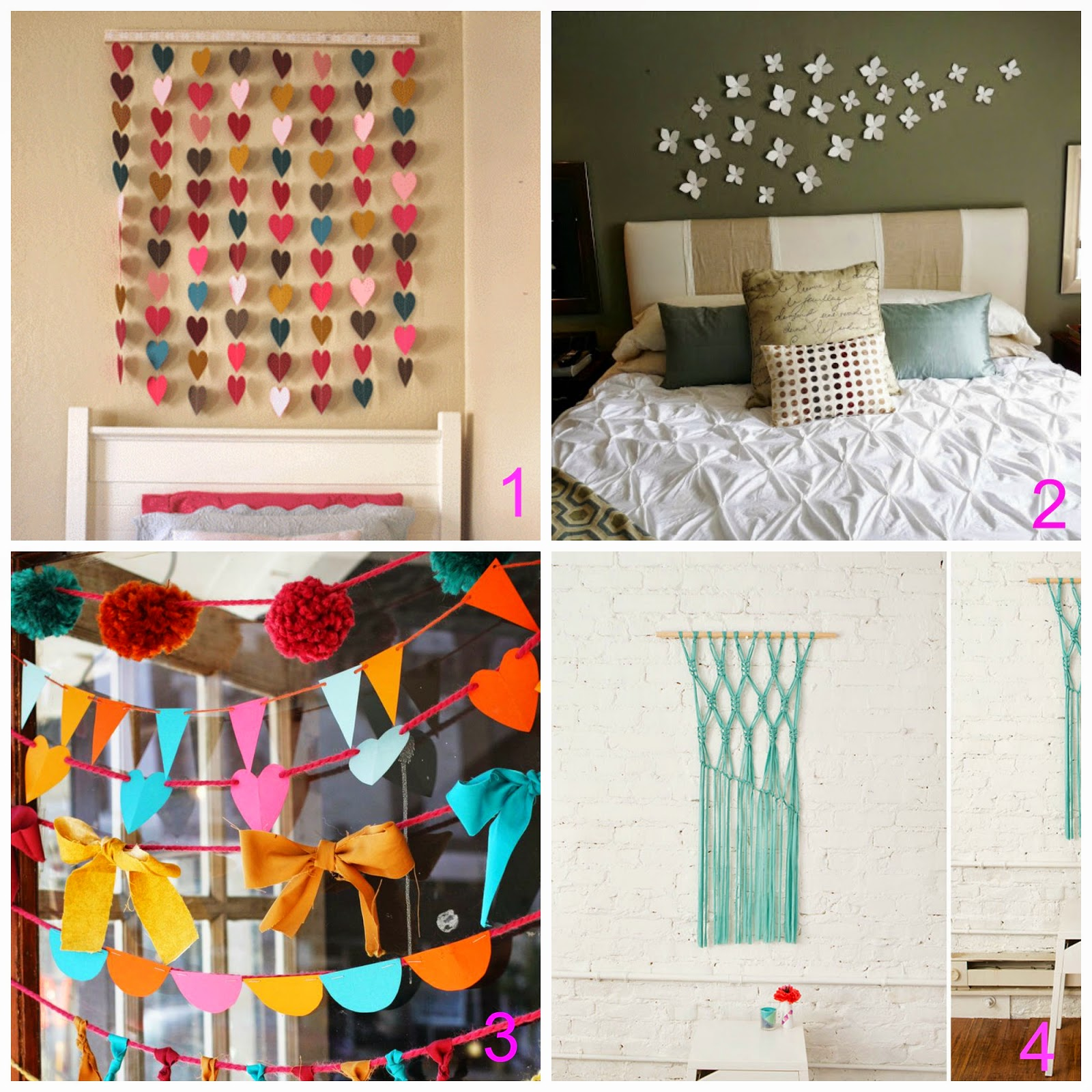 Decorare le pareti a costo zero 8 idee fai da te for Decorare una stanza con palloncini