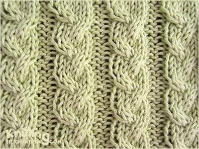 Knit Purl Stitch Alternating : Alternating Cable Rib Knitting Stitch Patterns