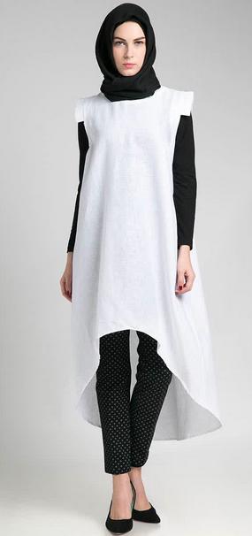 Contoh Model Baju Muslim Casual Terbaru 2015