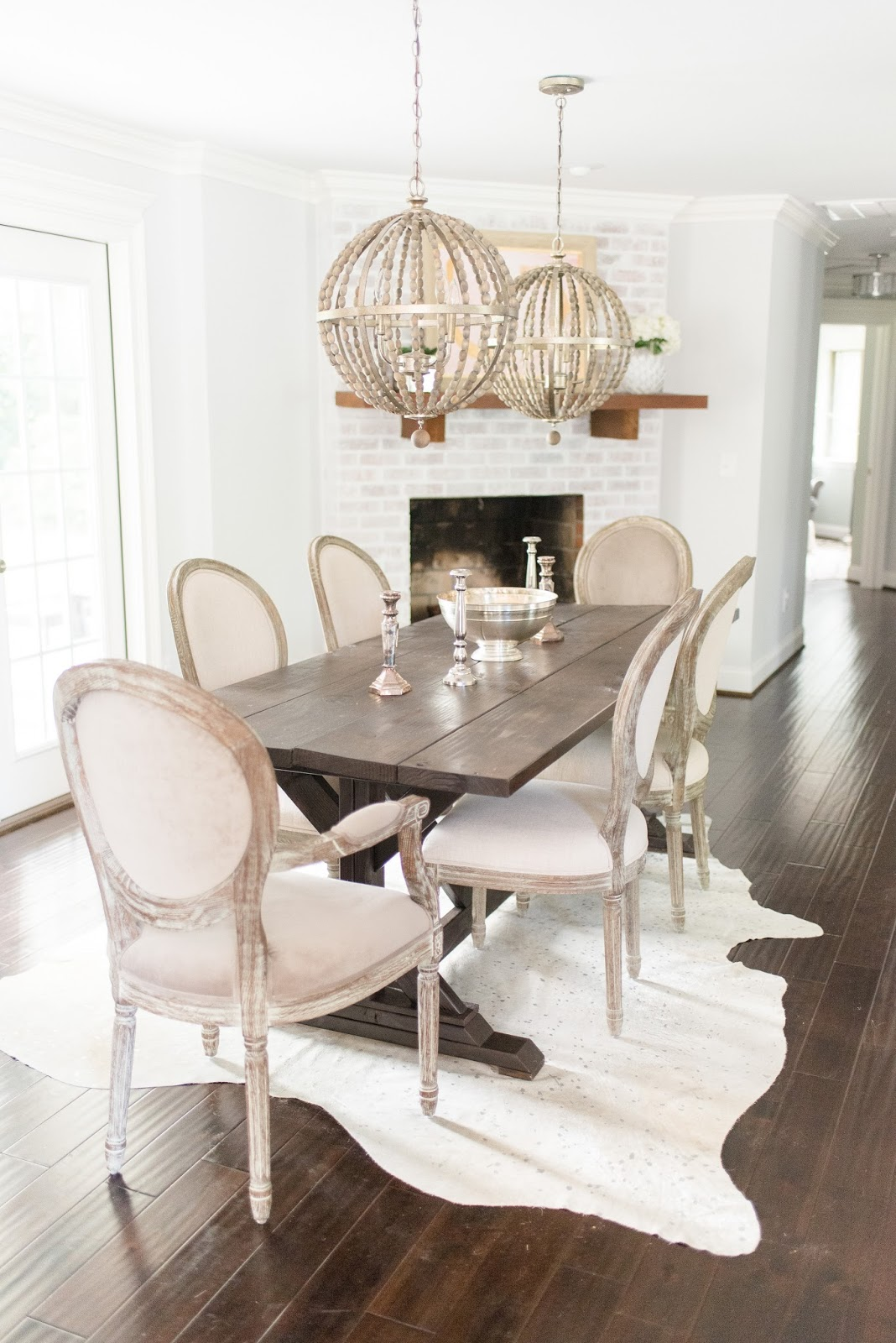 Reno Reveal The Dining Room Olive And Tate - Cowhide rug dining room