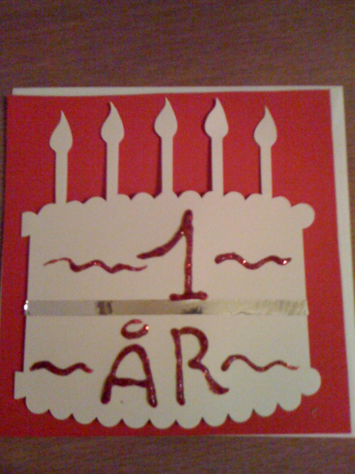 Fødselsdags lagkage kort