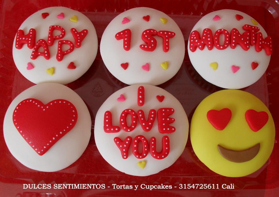 Cupcakes Para La Novia Novio Esposo Esposa Amante Aniversario