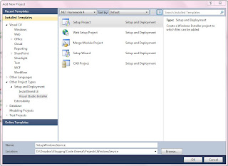 Setup Project in Visual Studio 2010