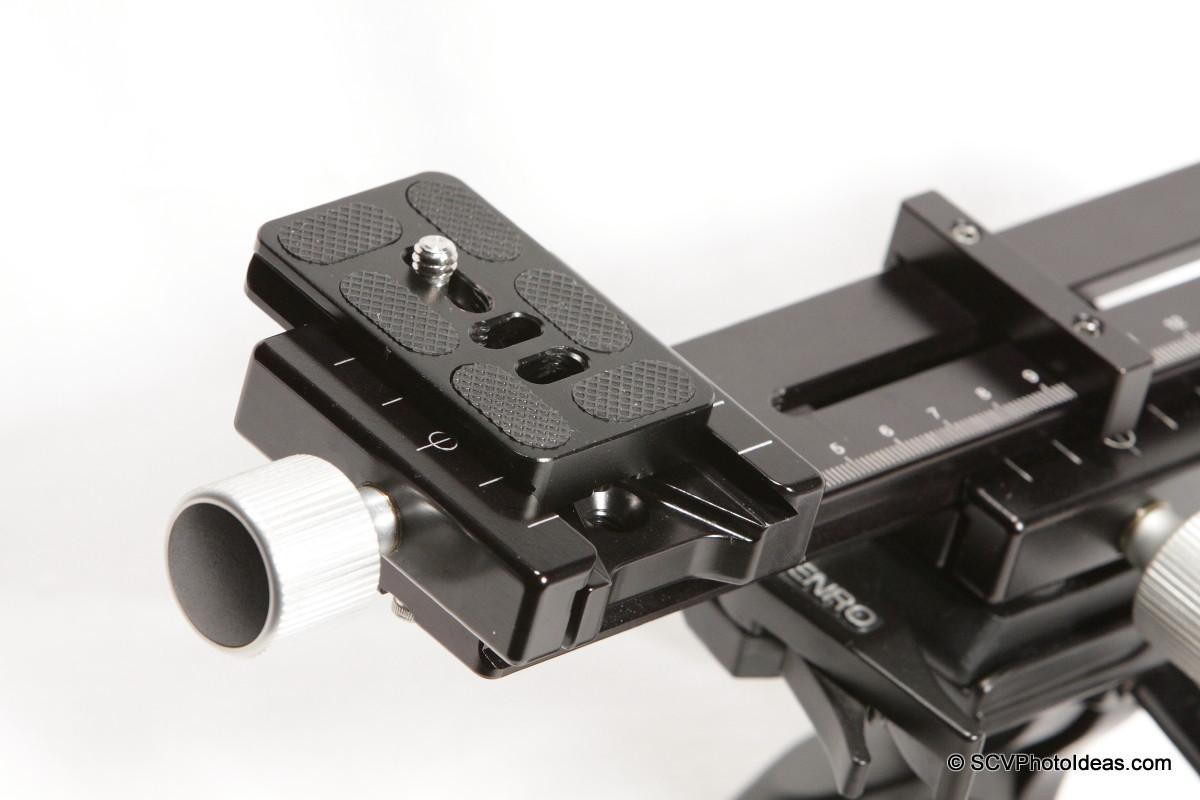 Hejnar Photo F62a + E032 Nodal - camera plate closeup - left