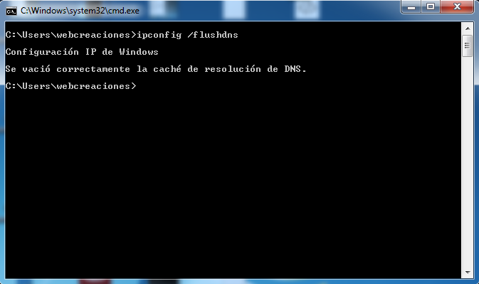 ipconfig flushdns windows 7