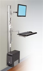 Apollo Series Wall Mounted Ergonomic Workstation