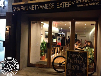 Image of Entrance of Chapas Vietnamese eatery in NYC, New York