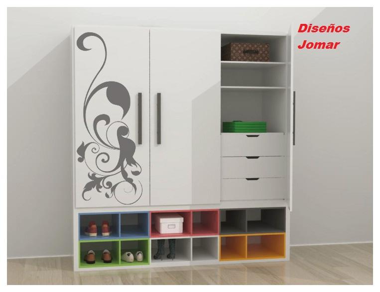 Dise os jomar closets for Roperos para dormitorios en lima