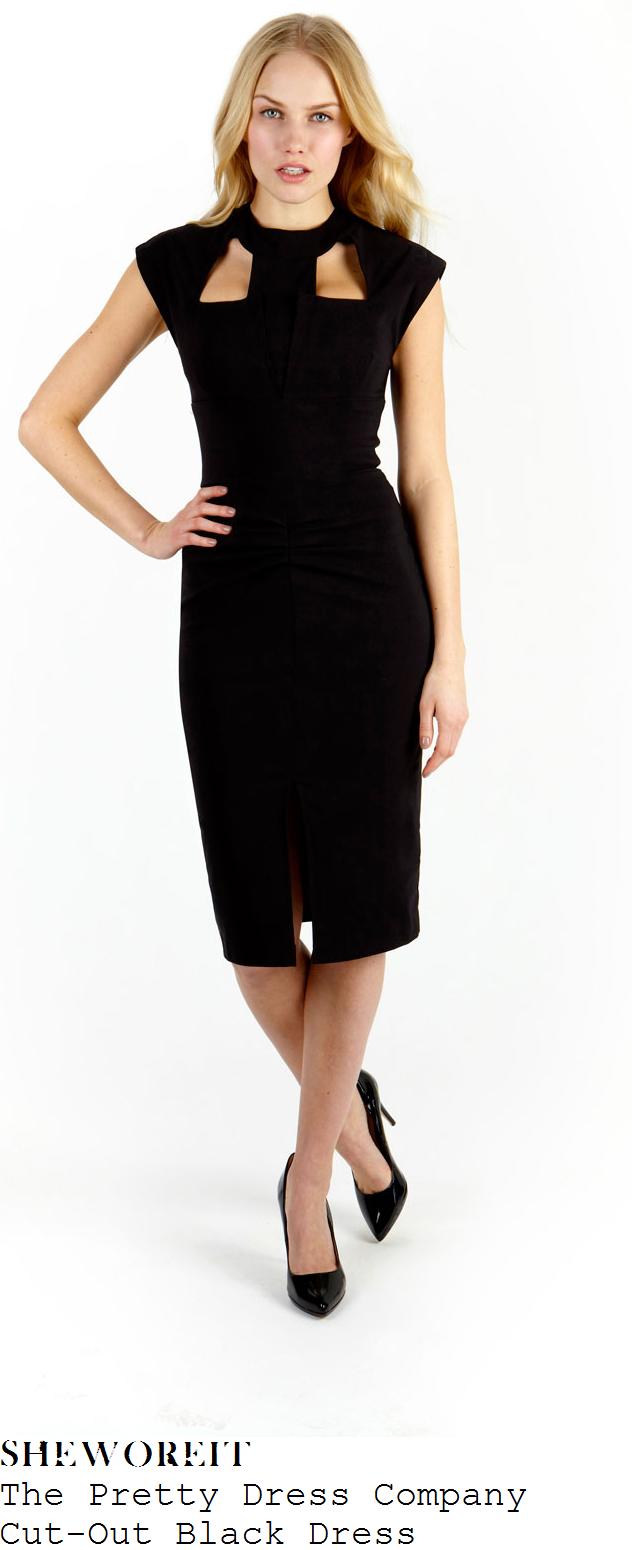 nicole-scherzinger-black-cut-out-detail-neckline-cap-sleeve-pencil-dress
