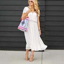 White Summer Midi Dresses