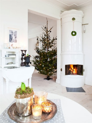 sala decorada navidad